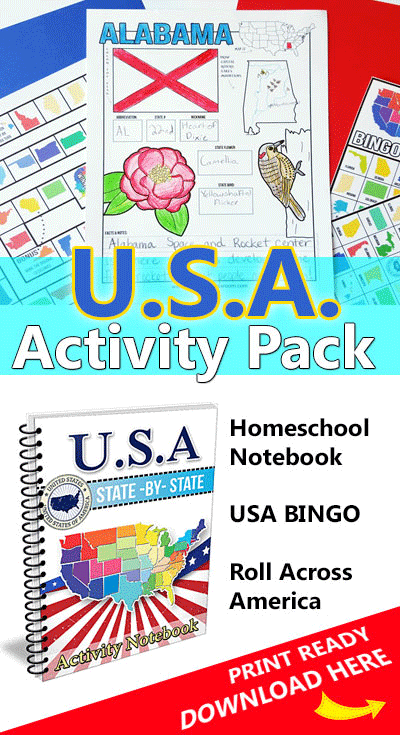 USA State Activity Pack
